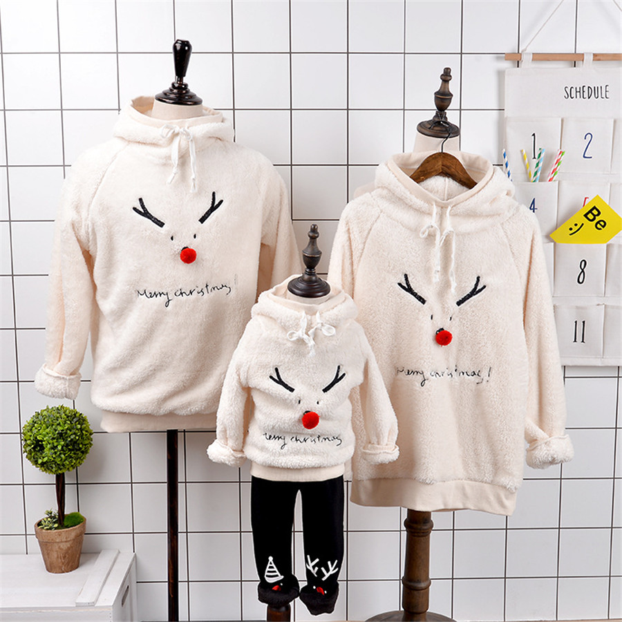Christmas family matching father mother daughter son mommy me clothes couple family look hoodies sweatshirts pullovers outfits 3 family look grey star pattern matching sweatshirts