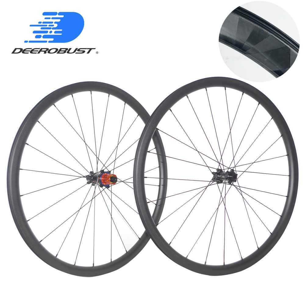 1163g rayons titane 700C 30mm 35mm 38mm 45mm 50mm 55mm pneu Tubeless Cyclocross vélo carbone roues route disque roues XDR