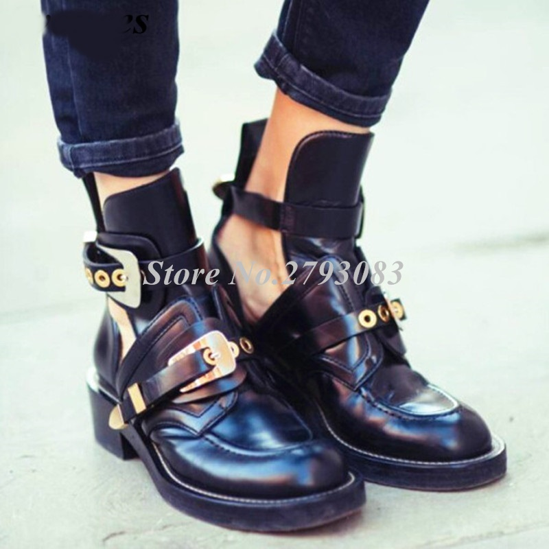 Svonces-2018-Spring-Autumn-Cut-Out-Buckle-Strap-Ankle-Boots-Metal-Decoration-Martens-Women-Shoes-Motorcycle