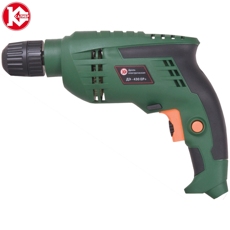 Impact electric drill Kalibr DE-430ER+, 430W, 2800 ob/min kalibr de 430er electric drill multi function adjustable speed woodworking power tool