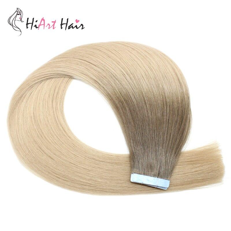 Aufrichtig Hiart 2,5 Gr/teil # Bbl Balayage Farbe Band Haar Extensions Erweiterung Adhesive Salon Gerade Vor Verbundenes Menschliches Remy Haar Proben 20 Pc