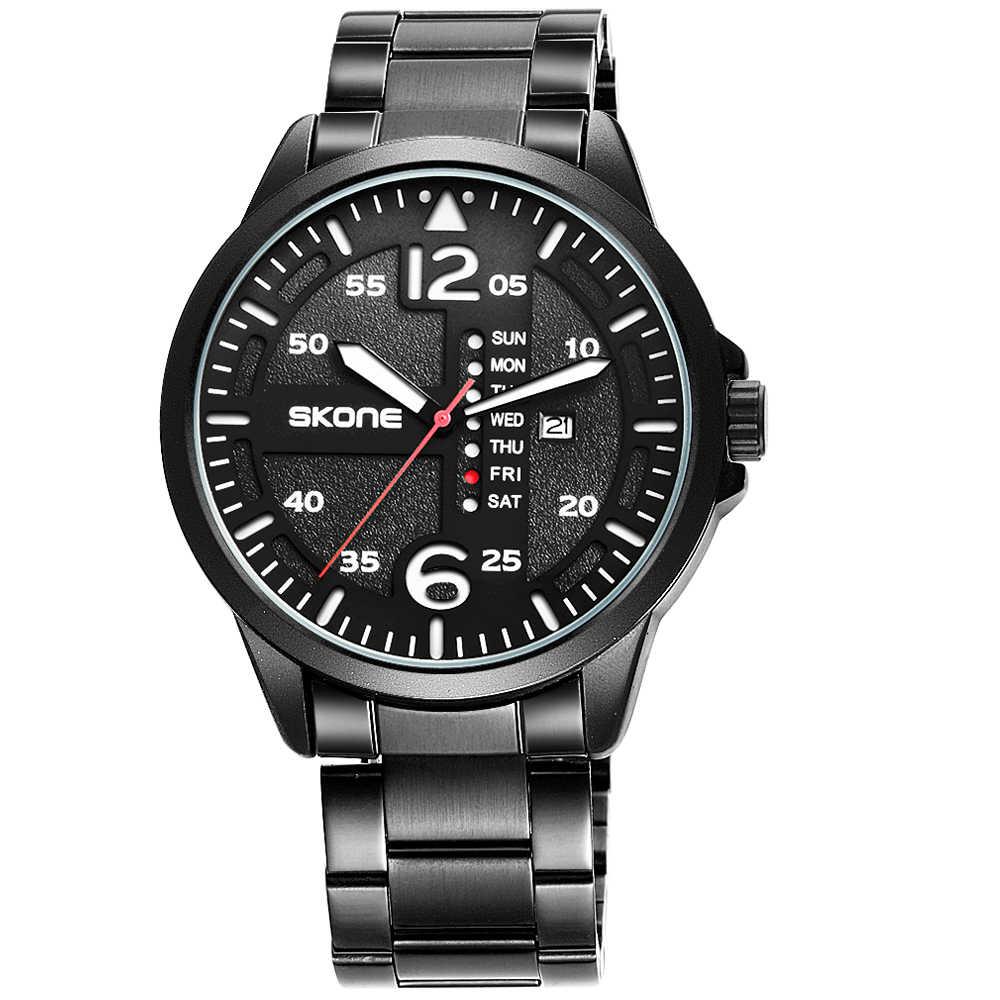 Reloj deportivo SKONE para hombre a prueba de agua reloj de pulsera masculino único Casual de lujo luminoso manos al aire libre reloj