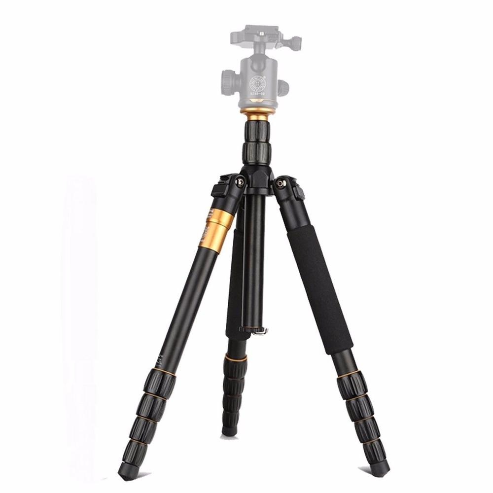 Q666 Lightweight Tripod For DSLR Camera Without Ball Head Monopod Tripod Compact Travel Camera Stand For Canon Nikon Sony SLR original weifeng wf 6662a ball head camera tripod with carrying bag for canon nikon dslr slr