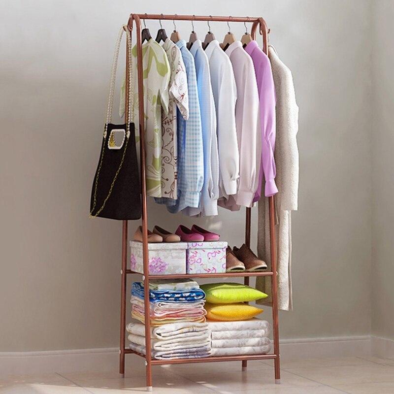 living room clothes storage rack space saving hanger home coat organizer stand shoes shelves. Black Bedroom Furniture Sets. Home Design Ideas