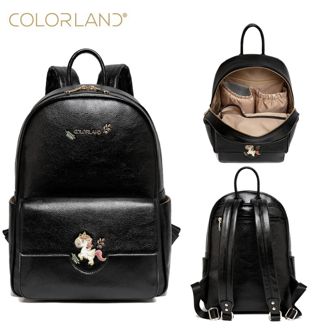 2f9b542d97 COLOR.LAND Baby Diaper Bag Mummy Maternity Travel Bags Organizer Backpack  Baby Stroller Bag Mom PU Leather baby Organizer bags