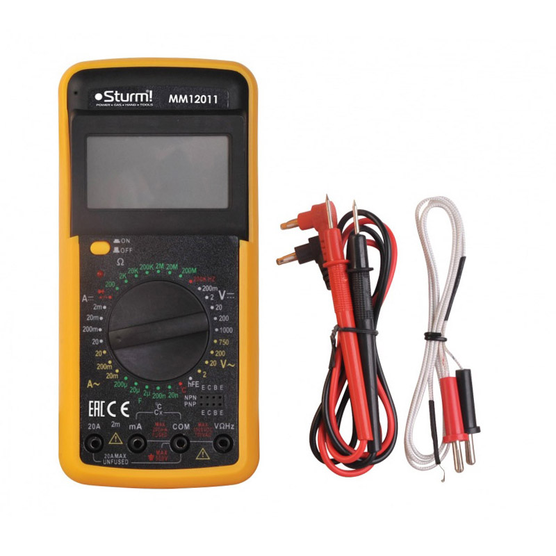 Digital Multimeter Sturm! MM12011 5 in 1 digital multimeter sound level humidity luminosity temperature lcd ac dc multimeter volt amp ohm tester em5510 all sun
