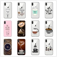 Ok But First Coffee phone Cases for iphone 7 7Plus Soft silicon Case For 5 11 11PRO MAX SE X 6 6s 6Plus 8plus back cover