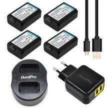 DuraPro 4 Шт. NP-FW50 NP FW50 Аккумулятор + USB Двойной Зарядное Устройство для SONY A5000 A5100 A7 A7R A6000 5 Т 3N 5C NEX5TL NEX6 NEX7 NEX5R NEX5N