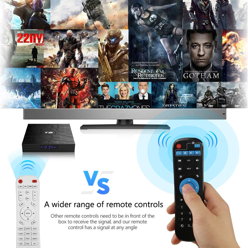 Image 4 - New TV Box T9 Android 8.1 4GB64GB Rockchip RK3328 32G BT4.1 Wifi 1080P H.265 4K VP9 10 Google Player Smart Set Top Box PK X96MAX-in Set-top Boxes from Consumer Electronics