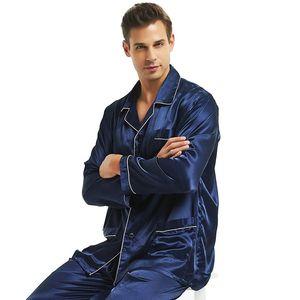 Image 4 - Mens Silk satin Pajamas Set  Pajama Pyjamas  Set  PJS Sleepwear Loungewear  S,M,L,XL,XXL,XXXL,4XL