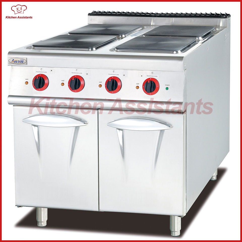 EH887 electric range with 4 hot plate with cabinet gh987 gas range with 4 burner with cabinet