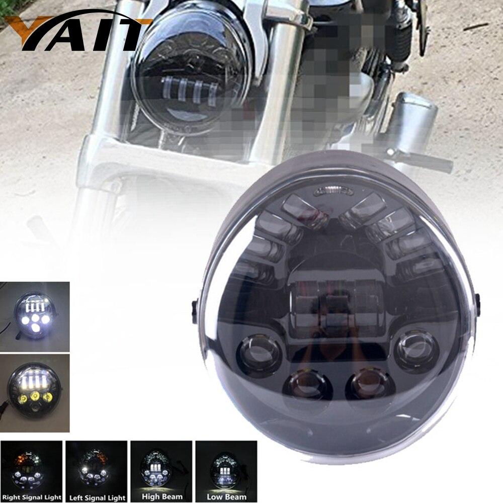 Yait V-ROD LED Headlight With Left and Right Turn Signal Light Vrod headlight for Harley V Rod VRSCF VRSC VRSCR Harley Headlamp