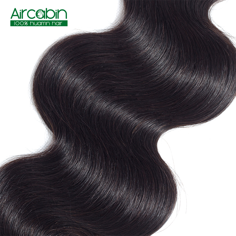 Peruvian Human Hair Bundles Body Wave 3 Bundles AirCabin Remy Hair Weave Bundles Can Be Dyed and Bleacked Natural Black