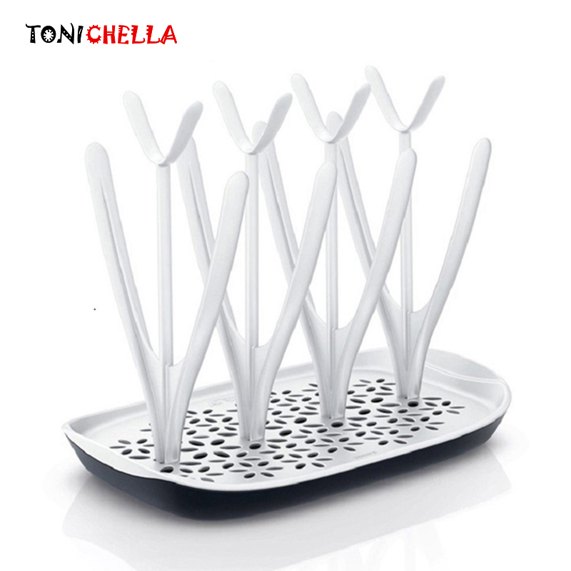 Baby Feeding Bottles Drying Rack Tree Cleaning Drying Rack Storage Infant Nipple Shelf Cup Holder Dryer Shelf Removable T0341 the new brand baby feeding bottle drying rack flower style nipple drying holder holds up to 12 feeding bottles and accessories