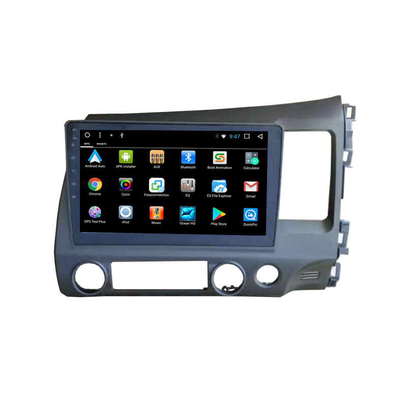 10.1 Android 7.1 Octa Core Fit Honda CIVIC left/Right Driving 2008-2011 Car DVD Player Navigation GPS Radio