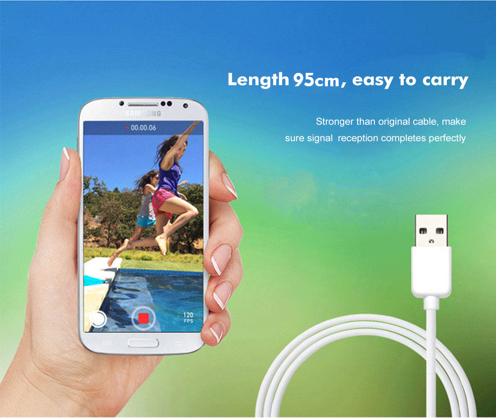 ARUN 95CM Micro USB Cable 2A Fast Charging Charge Data Cord Microusb Cable For Samsung Xiaomi Android Mobilie Phone Cable