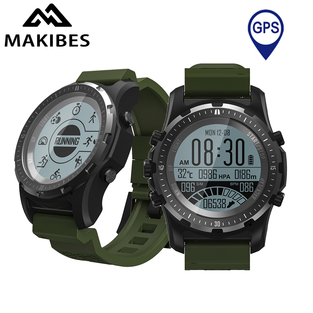 Makibes BR2 Smart Watch Men GPS Smartwatches Electronic Compass Heart Rate Monitor Multi-sport Dynamic Optical Sports Watch makibes br2 smart watch men gps smartwatches electronic compass heart rate monitor multi sport dynamic optical sports watch