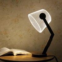 LED Table Lamp Adjustable w/ Luminous Lampshade 006