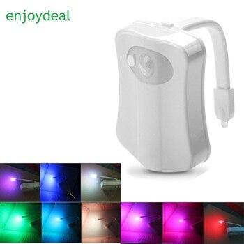8Color Sensor PIR Toilet Night Light lampHuman Motion Sensor Backlight For Toilet Bowl Bathroom Auto-Sensing WC Nightlight vasos sanitários coloridos