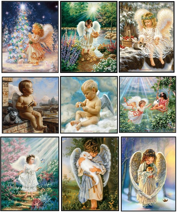 Embroidery Counted Cross Stitch Kits Needlework - Crafts 14 Ct DMC Color DIY ART Handmade Decor - Little Angels Collection