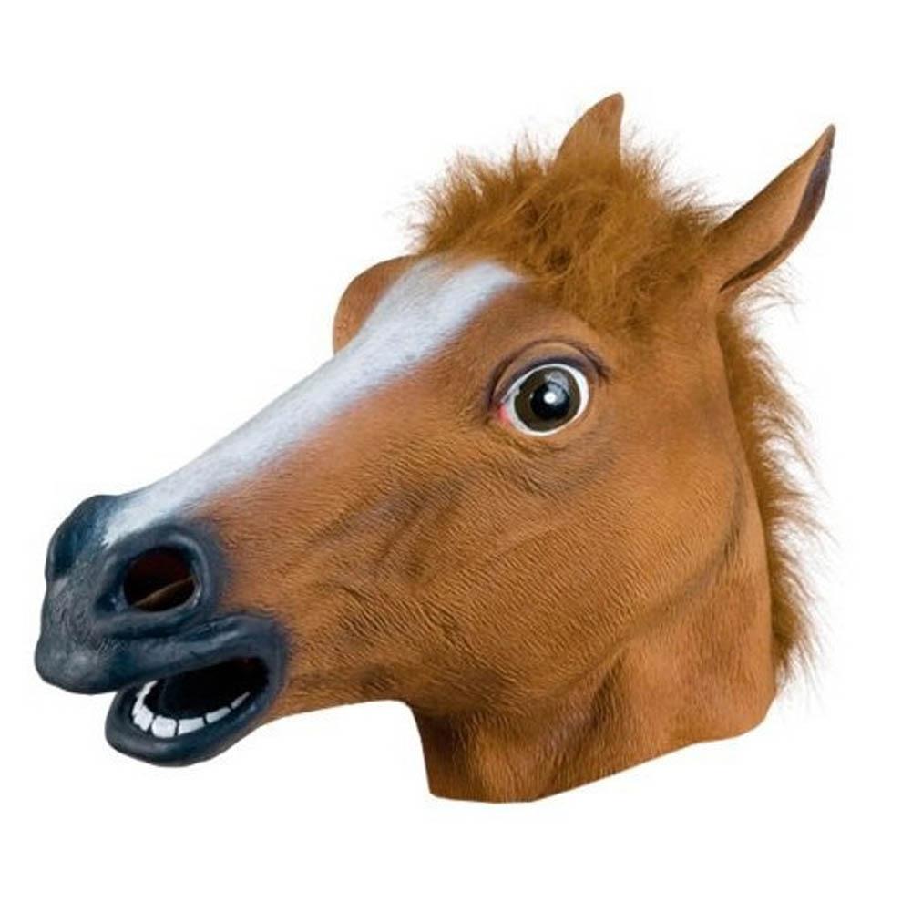 halloween zebra horsehead mask animal latex masquerade mask headgear