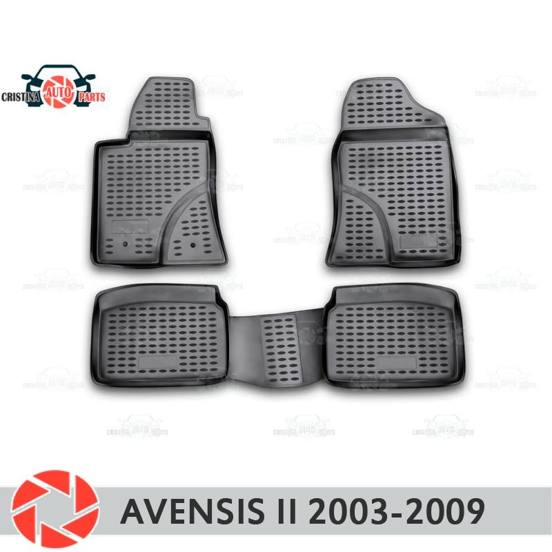 Alfombrillas de suelo para Toyota Avensis 2003-2009 alfombras antideslizantes de poliuretano protección de suciedad accesorios de diseño de coches interiores