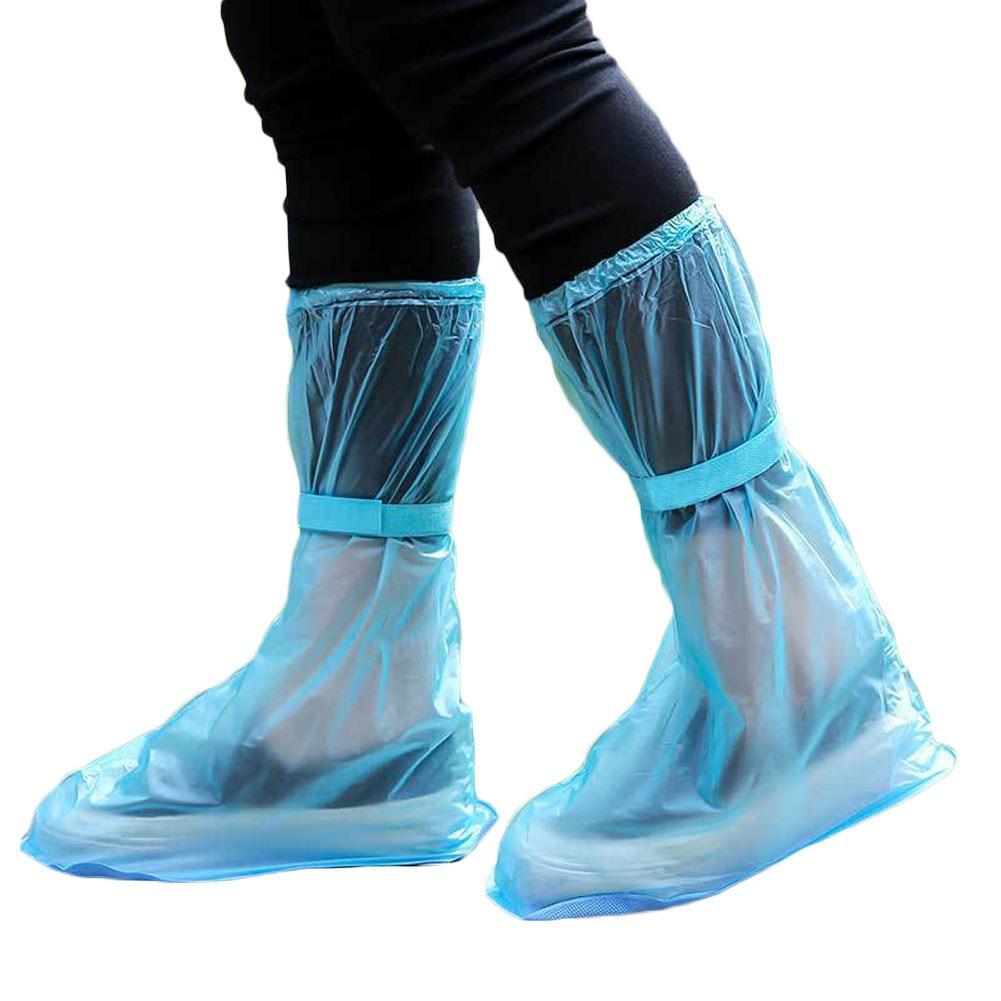 1pair Portable Outdoor Travel Slip Rain Shoe Covers Waterproof Rain Boots Household Merchandises