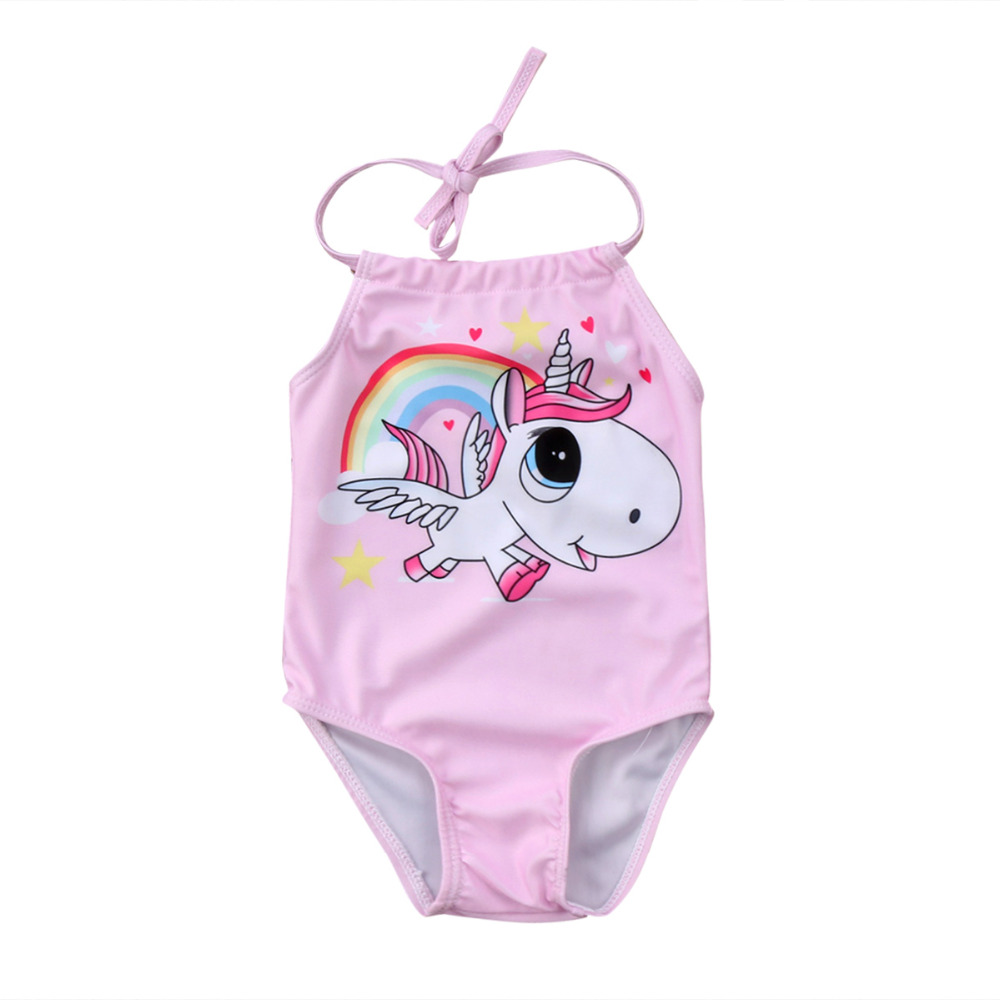 Kid Baby Girls Unicorn Bikini Swimwear One Piece Swimsuit