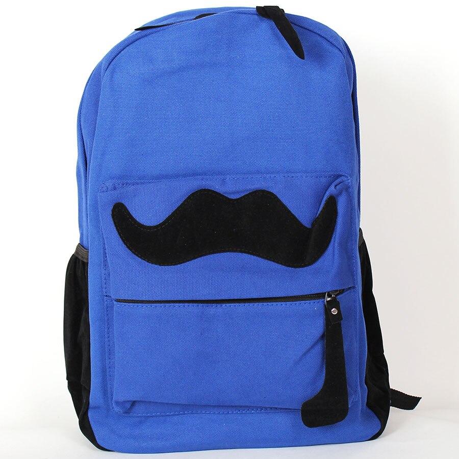 Backpack Mustache blue Omo-504