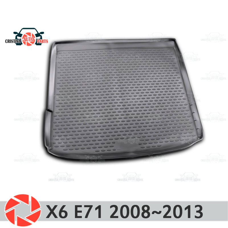 Trunk mat for BMW X6 E71 2008-2014 trunk floor rugs non slip polyurethane dirt protection interior trunk car styling car styling for bmw