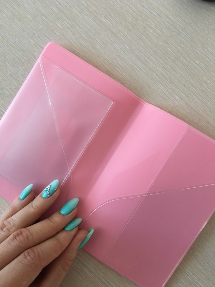 Women Russia Passport Cover Kawaii Candy Colors Ice Cream Balloon Biscuit Pass Document Pink Silicon Travel USA Passport Cover photo review
