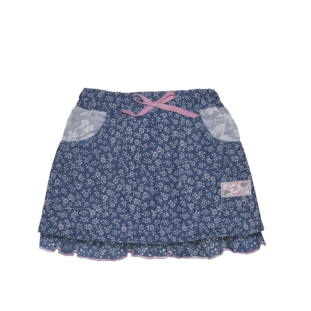 Skirts Lucky Child for girls 50-351 (24M-8T) Denim Skirt Children clothes plus ruffle hem button front denim skirt