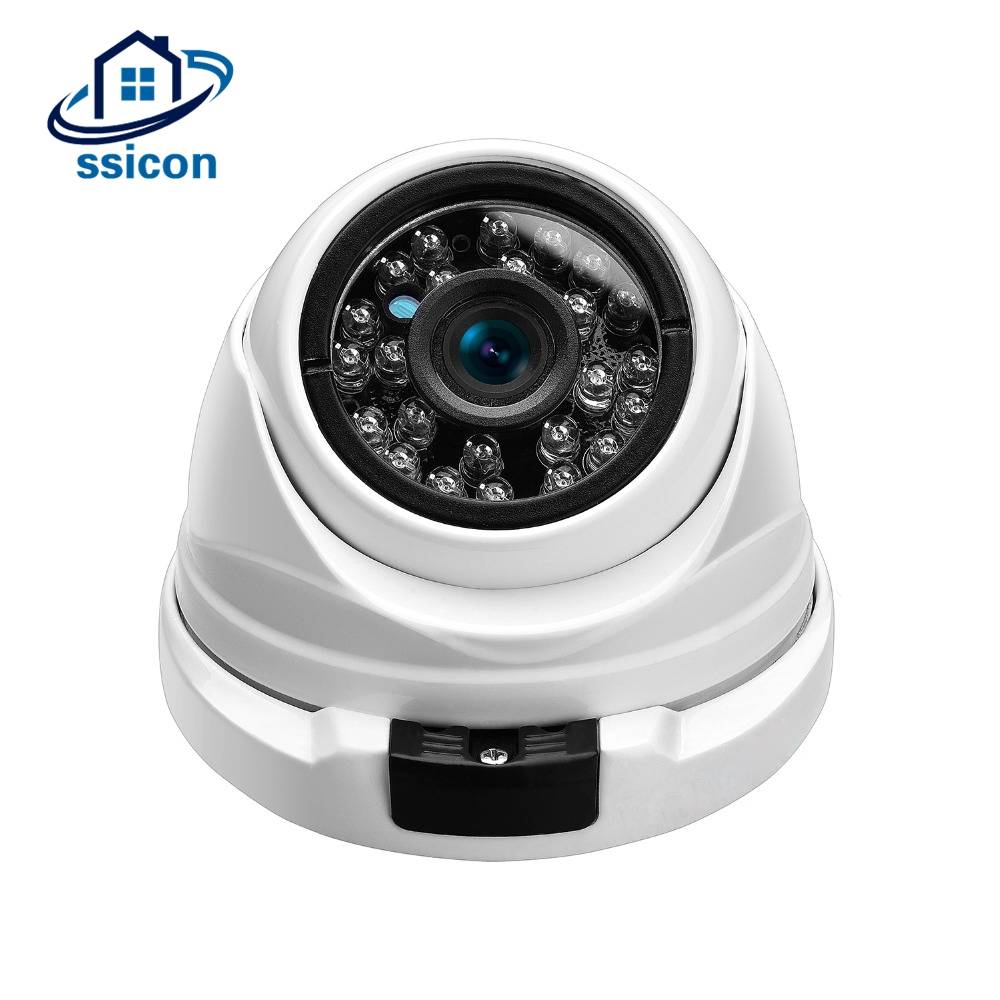 SSICON 4MP AHD Security Camera 3.6mm Lens Vandalproof Metal Housing Dome Home Surveillance Camera With 24Pcs Led IR 4 in 1 ir high speed dome camera ahd tvi cvi cvbs 1080p output ir night vision 150m ptz dome camera with wiper