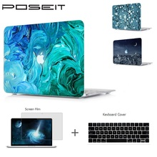 POSEIT For Macbook Pro 15 A1707 Touch Bar 13 A1706/8 2016 Air 11 12 13 Pro 13 15 Retina Laptop Shell+Keyboard Cover+Screen Film цены онлайн