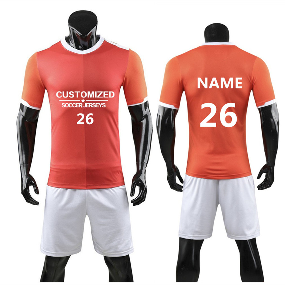 Men Survetement Soccer Jerseys Sets Sport Kit Football Jerseys