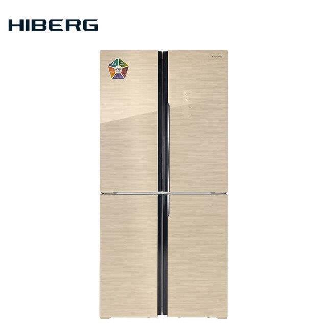 4-х дверный холодильник HIBERG RFQ-490DX NFGY, объем 490л
