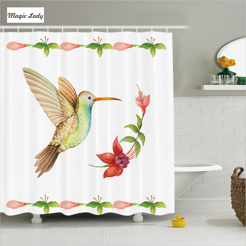 Shower Curtain Bird Bathroom