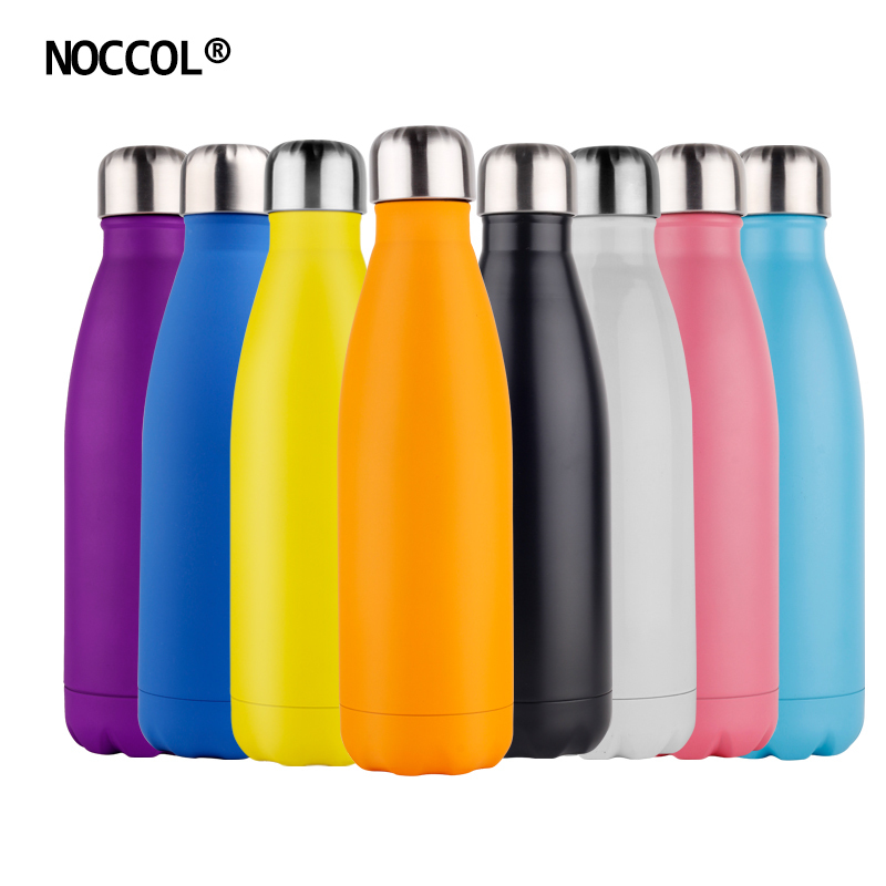 NOCCOL 500ml Candy Color Vacuum Water Bottle <font><b>Thermos</b></font> High Quality Sports Stainless Steel Travel Coffee Mug Best Insulated Flasks