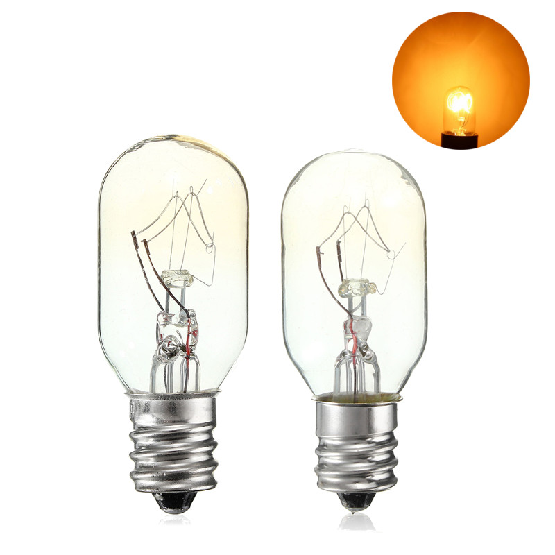 15W/25W High Temperature Incandescent Bulb E12 Salt Lamp Toaster Oven Refrigerator Light Filament Bulbs Glass Lamp Lighting 120V