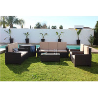 Conjunto диван Флорида Делюкс Blanco, compuesto por 1 диван тройной, 1 диван doble, 2 sillones, 1 Меса и 1 баул. Muebles де снаружи