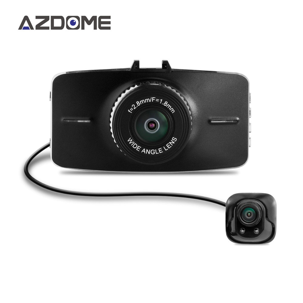 Azdome G5WD Dual Lens Dash Cam Car Dvr Two Cameras Full HD 1080p 3.0lcd Screen H.264 ADAS Auto Camera Video Recorder H15 автомобильный видеорегистратор old shark 2 4 tft lcd dual 2 hd dvr g