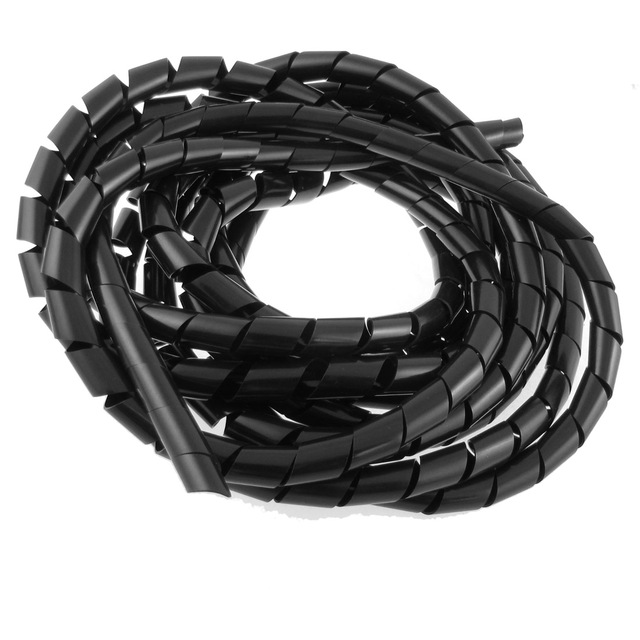 UXCELL 14Mm Outside Dia 17 Ft Polyethylene Spiral Wire Wrap ...