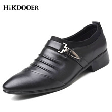 Plus Size 38-48 Men Dress Shoes Classic Business Office For Pointed Toe 2018 New Casual British Style Man Flats