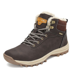 Christmas Fashion Winter Shoes Man Warm Snow Boots Zapatos De Hombre Ankle Martin Boots Lace-up Casual Shoes Outdoor Flats
