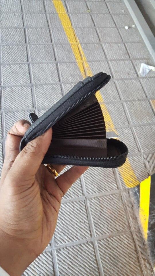 Porte Monnaie Porte Carte Femme Homme RFID Cuir - 11 Compartiments photo review