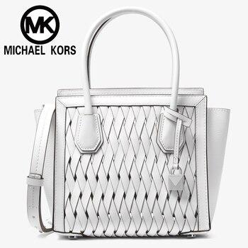 067982333894 FSO- Michael kors Official MK Women shoulder Bag Luxury Women hand bag  Handbags Mercer Studio Woven Leather Cross