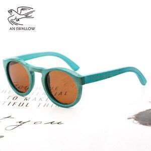 Image 3 - high quality Handmade Bamboo fashion sunglasses woman luxury Polarized UV400 sunglasse Bamboo Wood  Beach Sunglasses for man