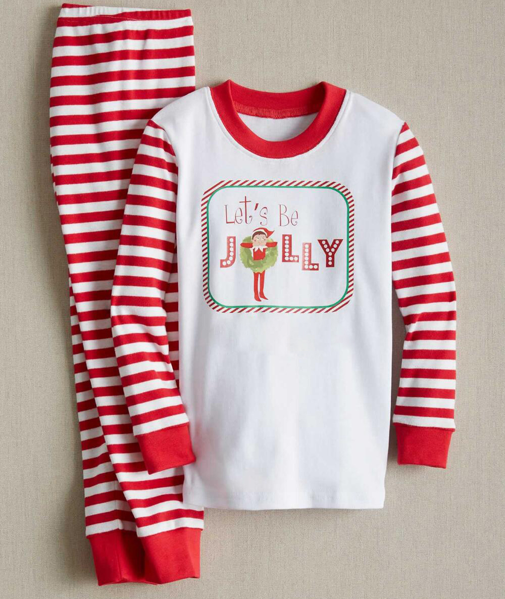bb1aabaeab Pudcoco Striped Christmas Family Pajamas Set Santa Adult Kids Women ...