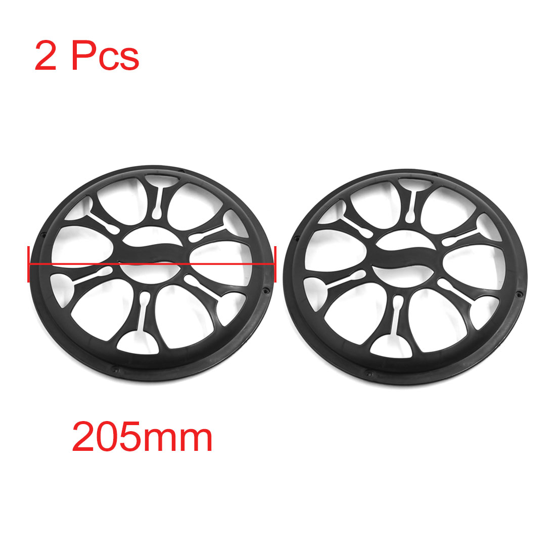 X Autohaux Black Plastic 8 Inch Car Speaker Sub Woofer Grill Cover Guard Protector 2Pcs