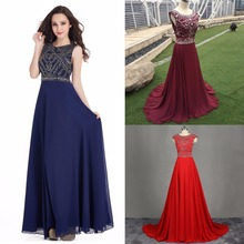In Stock Burgundy Royal Blue Evening Dresses A-Line Gown  Red Black Long Prom Dress Robe De Soiree